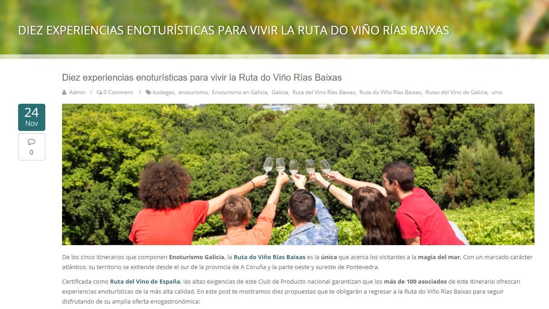Enoturismo en Galicia